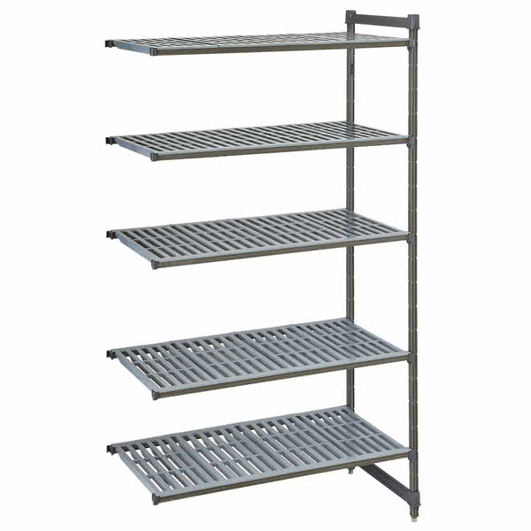 "Cambro CBA184284V5580 Polymer Louvered Add-On Shelf Kit - 42""W x 18""D x 84""H"