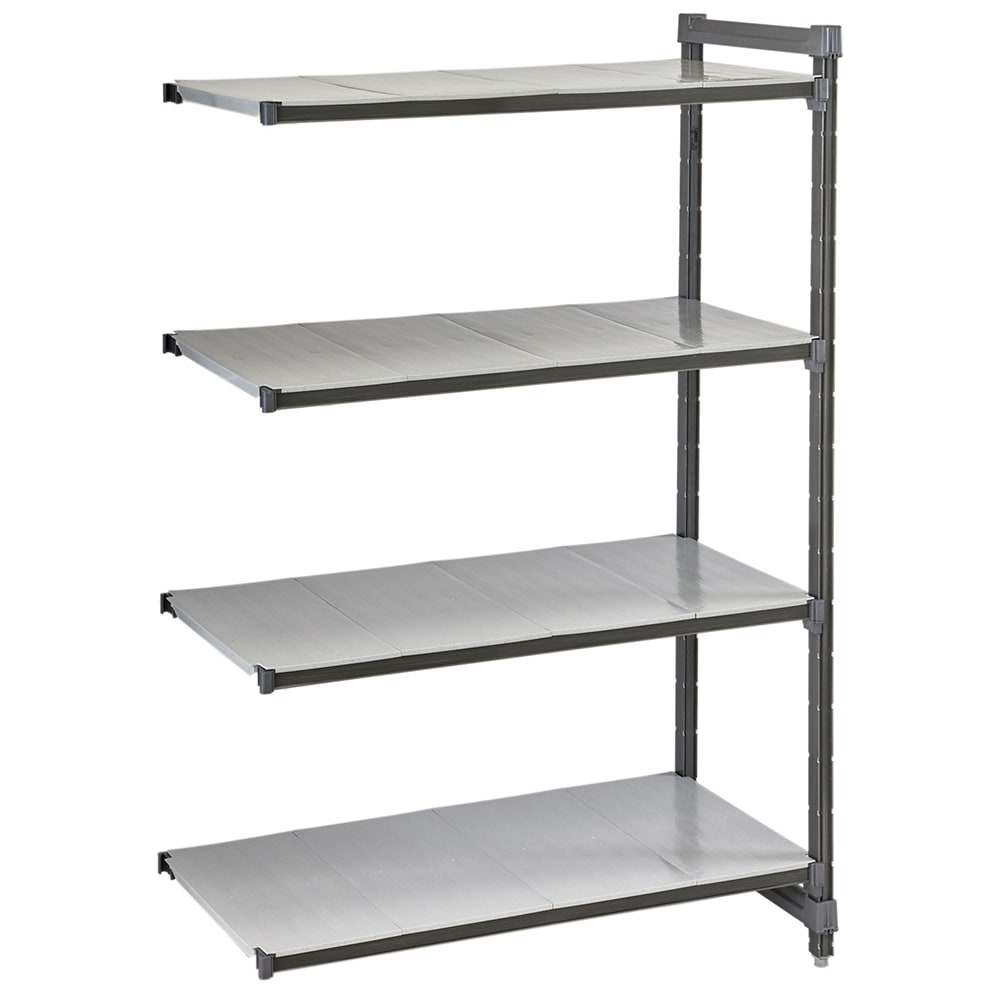 "Cambro CBA184872S4580 Polymer Solid Add-On Shelf Kit - 48""W x 18""D x 72""H"