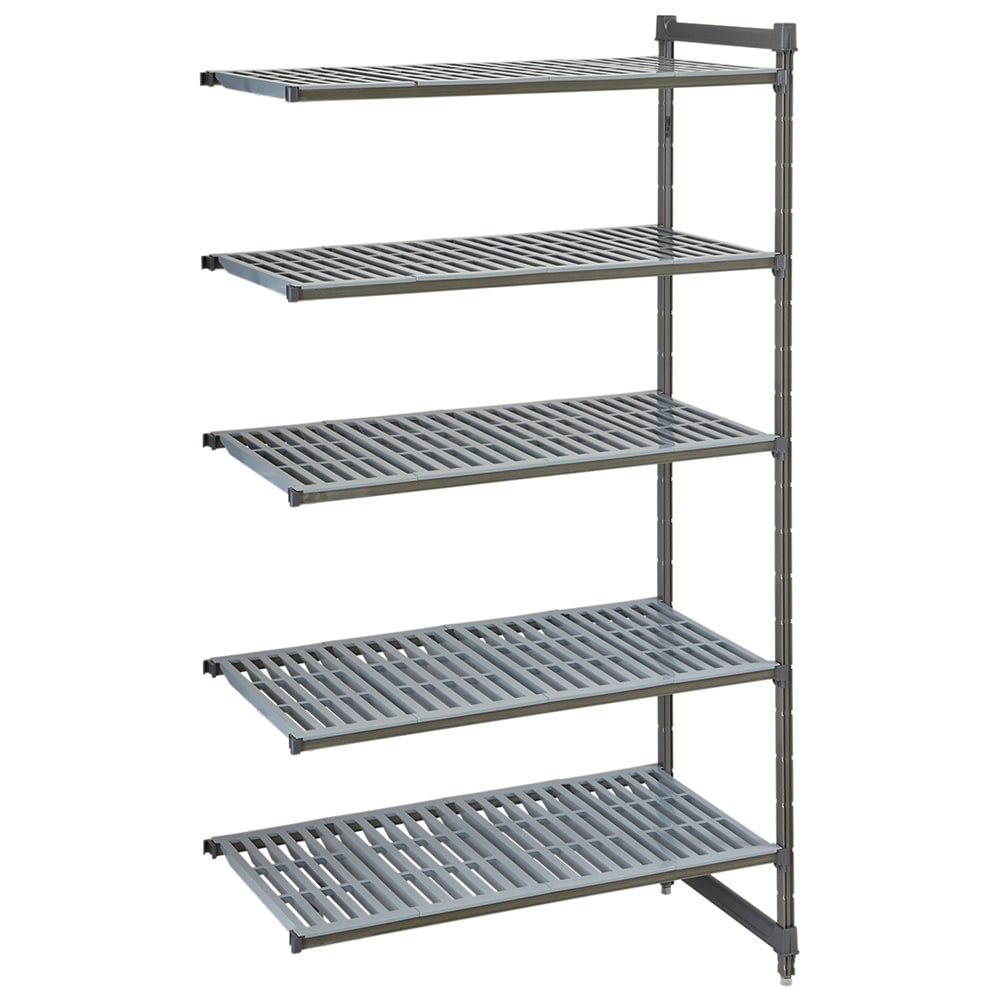 "Cambro CBA243064V5580 Polymer Louvered Add-On Shelf Kit - 30""W x 24""D x 64""H"