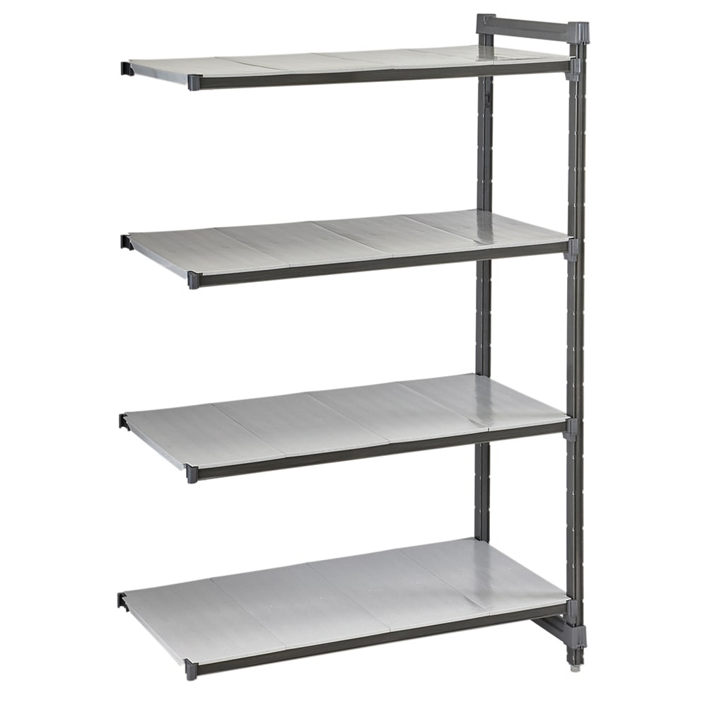 "Cambro CBA244272S4580 Polymer Solid Add-On Shelving Unit - 42""L x 24""W x 72""H"