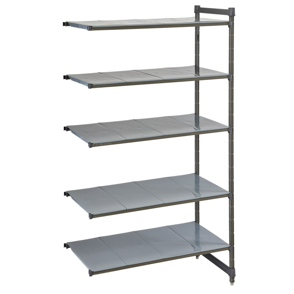 """Cambro CBA244284S5580 Polymer Solid Add-On Shelving Unit - 42""""L x 24""""W x 84""""H"""