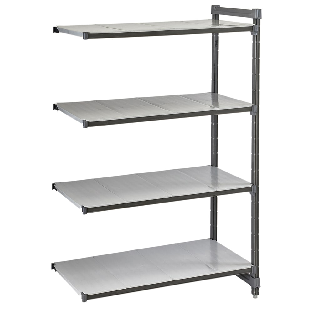"Cambro CBA246072S4580 Polymer Solid Add-On Shelving Unit - 60""L x 24""W x 72""H"