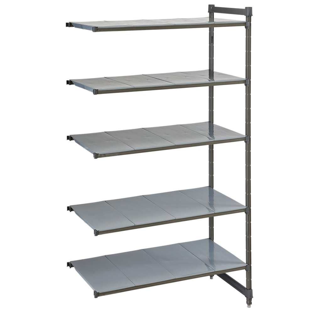 "Cambro CBA246084S5580 Polymer Solid Add-On Shelving Unit - 60""L x 24""W x 84""H"