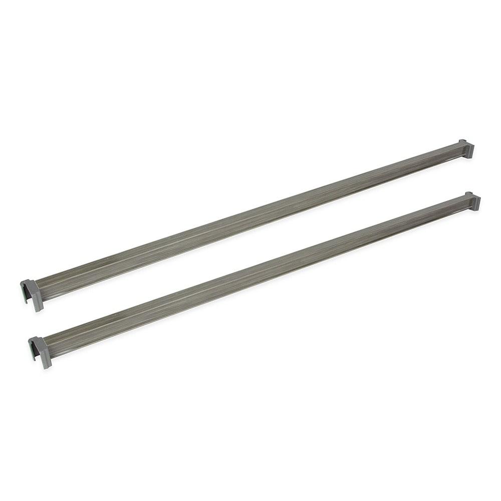 "Cambro CBTR482PK580 48"" Camshelving® Basics Traverse, Brushed Graphite"