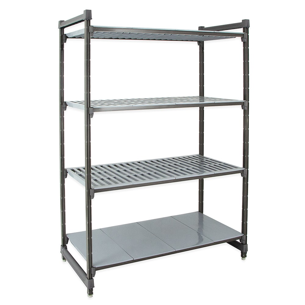 "Cambro CBU183684VS4580 Polymer Louvered/Solid Shelving Unit - 36""L x 18""W x 84""H"