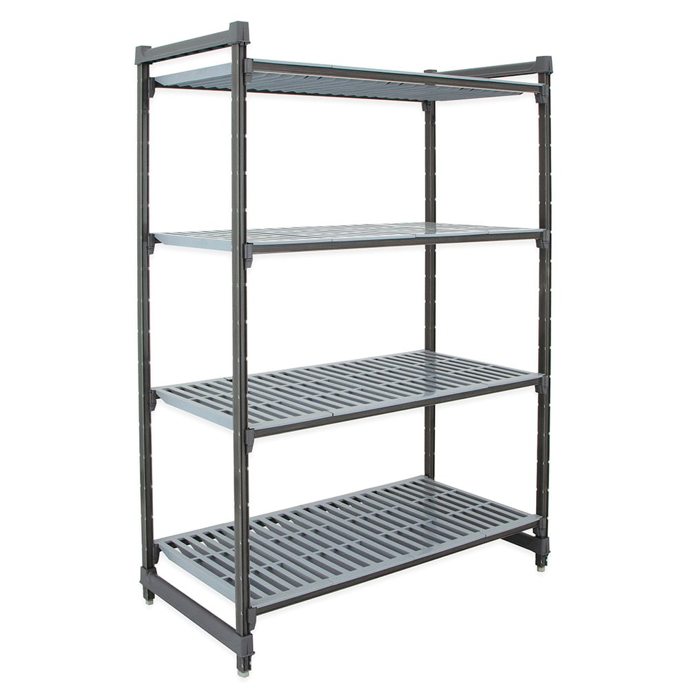 "Cambro CBU246072V4580 Polymer Louvered Shelving Unit - 60""L x 24""W x 72""H"