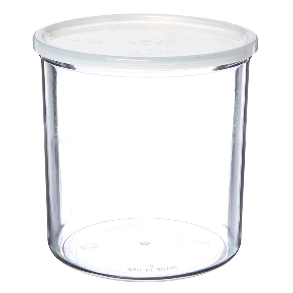 Cambro CCP27152 2.7-qt Round Crock w/ Lid - Polycarbonate, Clear