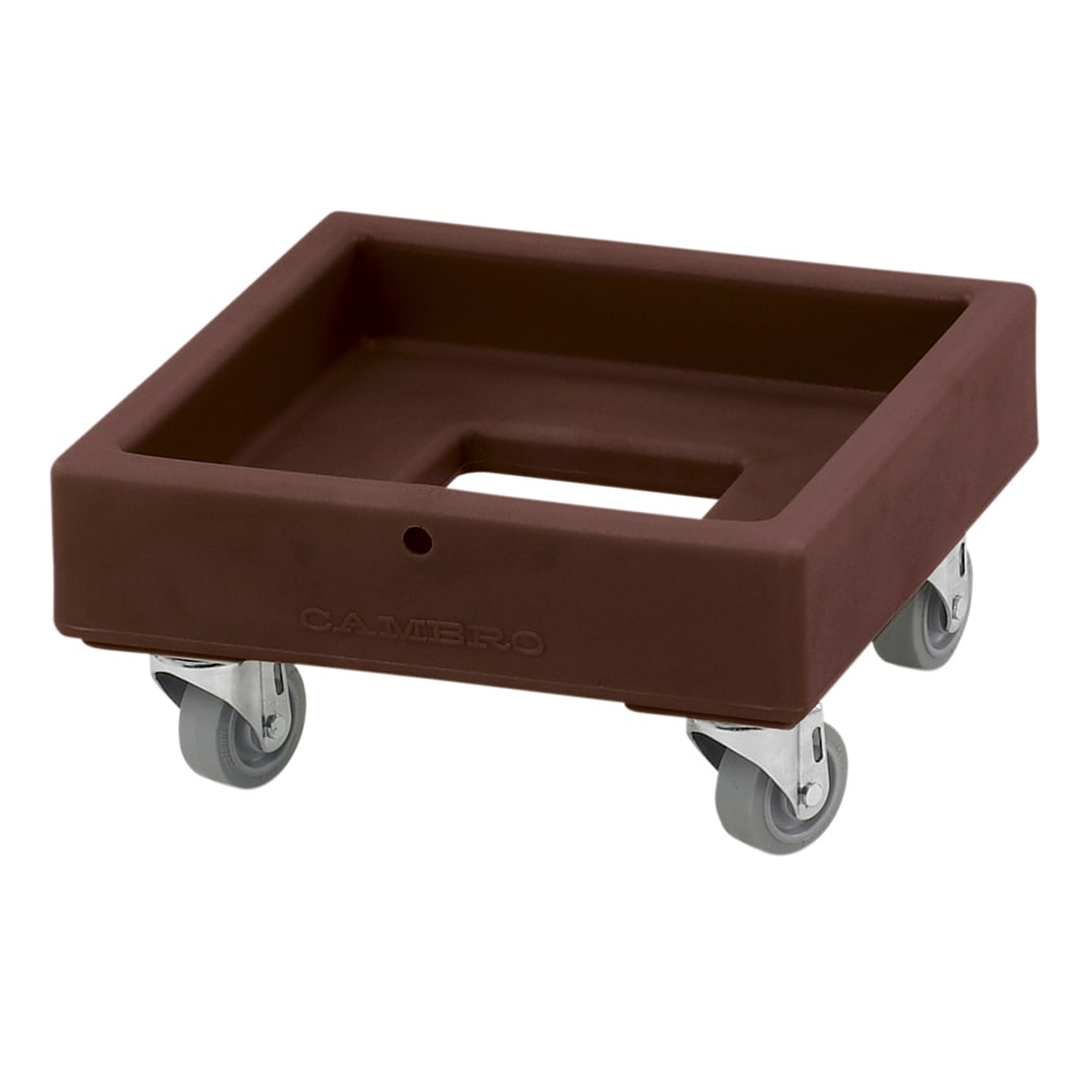 Cambro CD1313131 Camdolly® for Milk Crates w/ 250-lb Capacity, Dark Brown