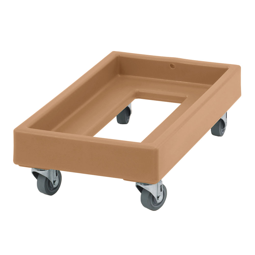 Cambro CD1327157 Camdolly® for Milk Crates w/ 300-lb Capacity, Coffee Beige