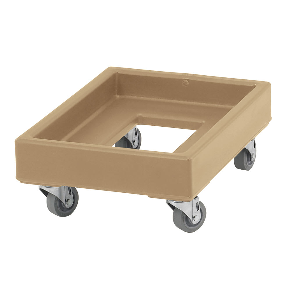 Cambro CD1420157 Camdolly® for Milk Crates w/ 350 lb Capacity, Coffee Beige