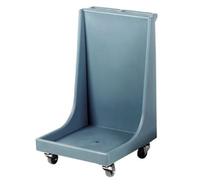 """Cambro CD2020H401 Camdolly with Handle - 25-7/8x22-1/4x36-7/8"""" 350-lb Capacity, Slate Blue"""