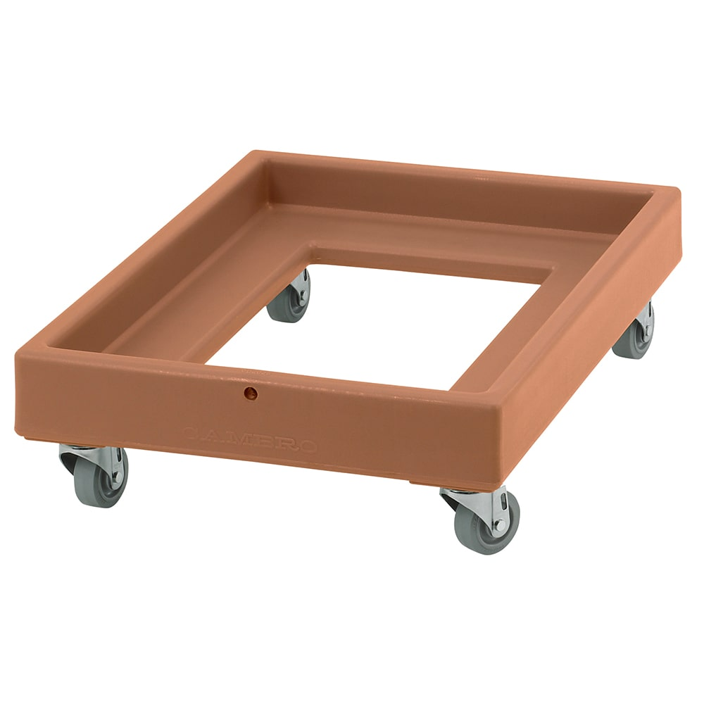 Cambro CD2028157 Camdolly® for Milk Crates w/ 350 lb Capacity, Coffee Beige