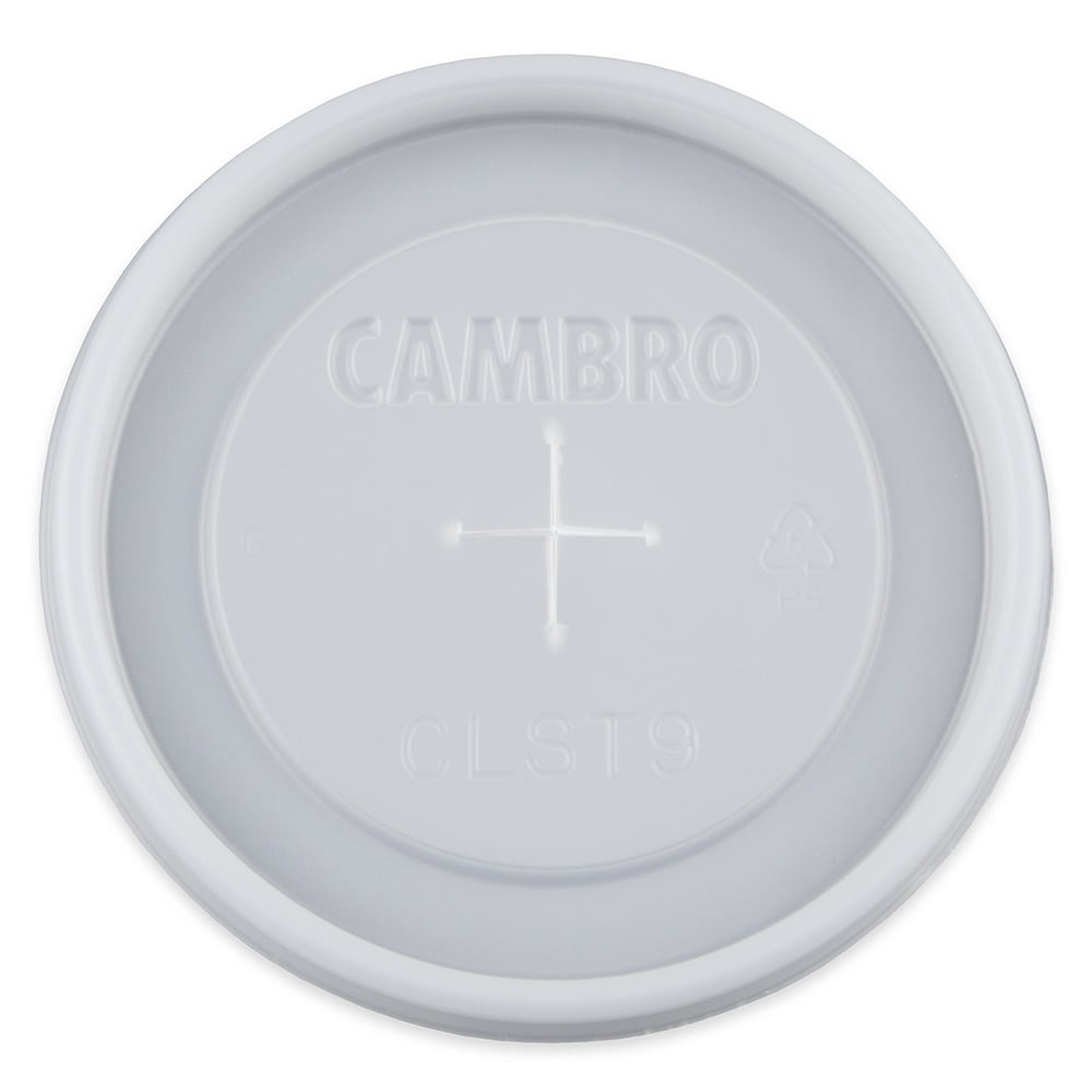Cambro CLST9190 Disposable Tumbler Lid For Dinex 9 1/2 oz Swirl & Carlisle 9 oz