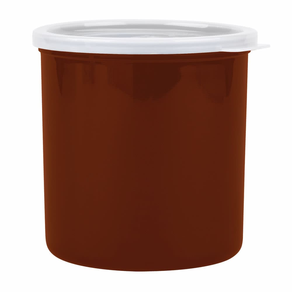 Cambro CP12195 1.2-qt Crock with Lid - Reddish Brown