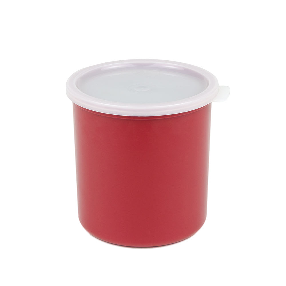 Cambro CP12416 1.2-qt Crock with Lid - Cranberry