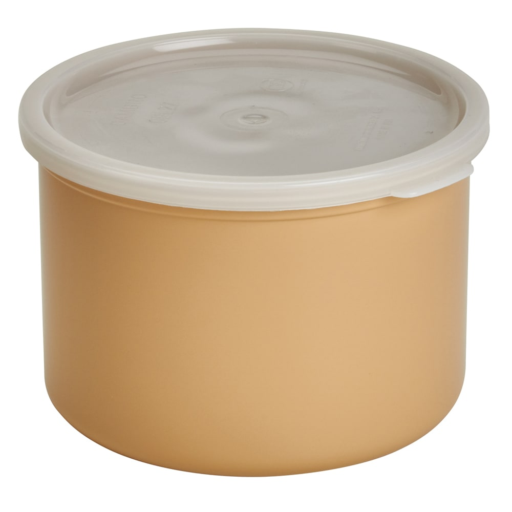 Cambro CP15133 1.5 qt Crock with Lid - Beige
