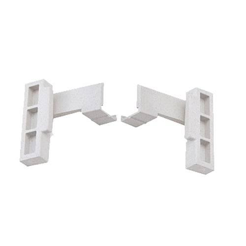 Cambro CPCC8480 Camshelving® Premium Corner Connector Set, Speckled Gray