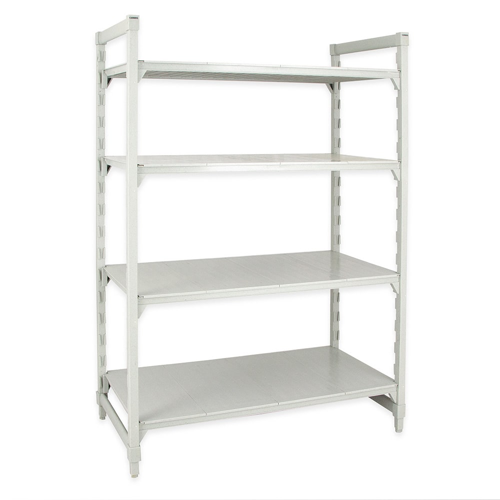 """Cambro CPU186072S4480 Polymer Solid Shelving Unit - 60""""L x 18""""W x 72""""H"""