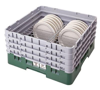 "Cambro CRP141012119 Camrack PlateSafe - Full-Size, (14)10-1/2 to 12-1/2"" Plates, Sherwood Green"