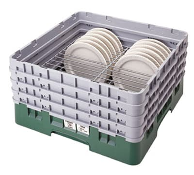 "Cambro CRP141012184 Camrack PlateSafe - Full-Size, (14)10-1/2 to 12-1/2"" Plates, Beige"