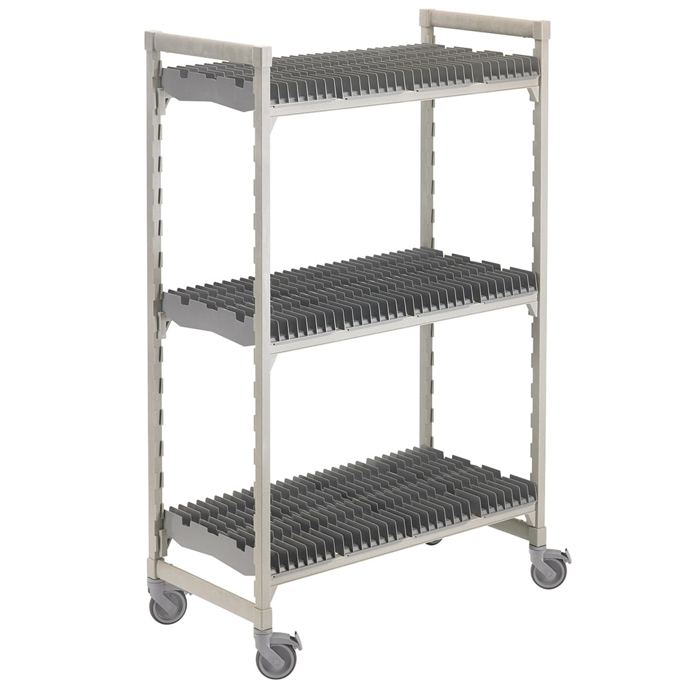 Cambro CSDRC246075PKG 3 Level Mobile Drying Rack for Trays