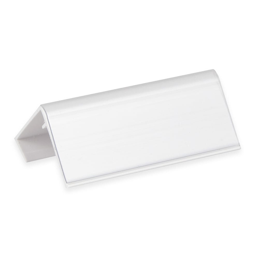 "Cambro CSID3 3"" Identification Tag - White/Clear"