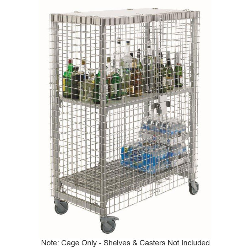 """Cambro CPFWSC244860000 50.25"""" Stationary or Mobile Security Cage, 26.75""""D"""