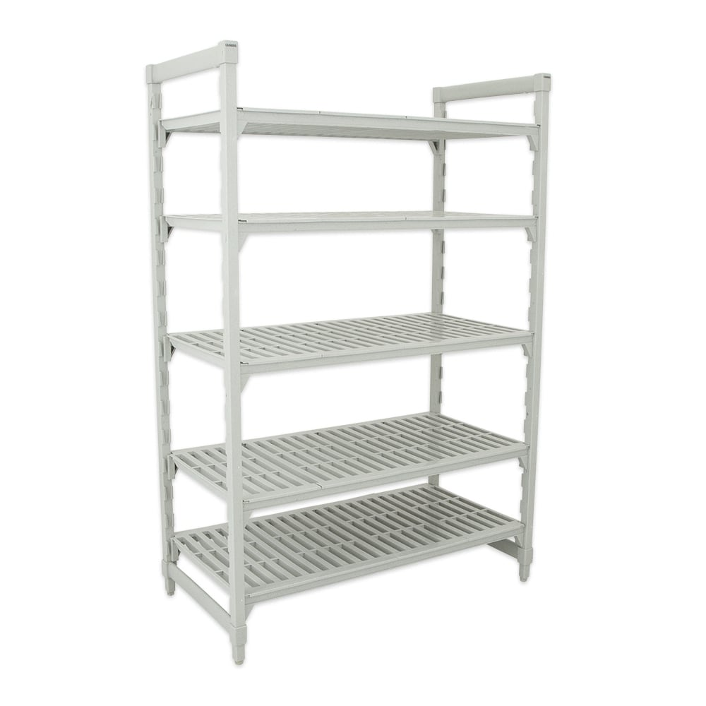 "Cambro CPU246072V5480 Polymer Louvered Shelving Unit - 60""L x 24""W x 72""H"