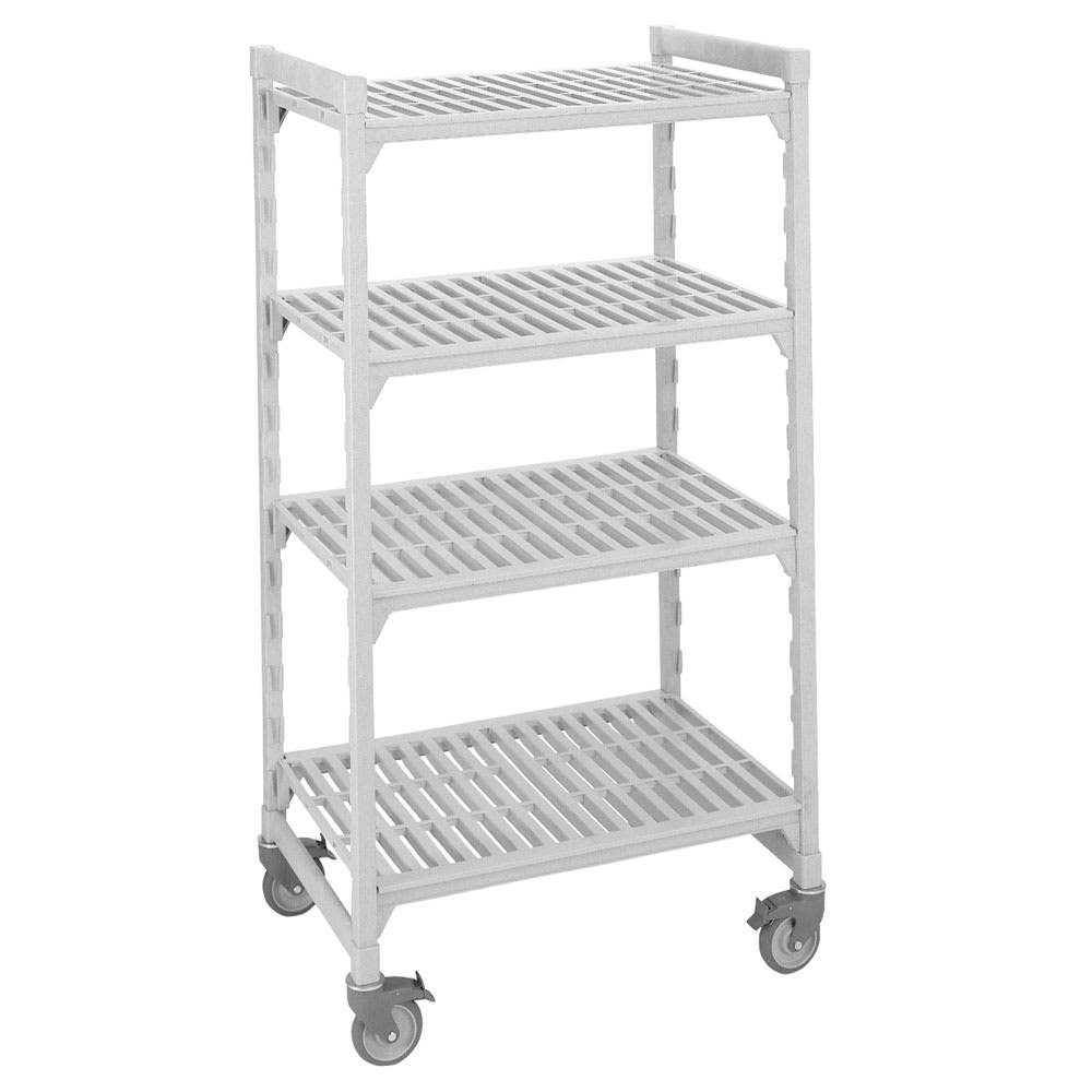 """Cambro CSUHD44486480 48"""" Floor Track Shelving Unit, End Unit Supported"""