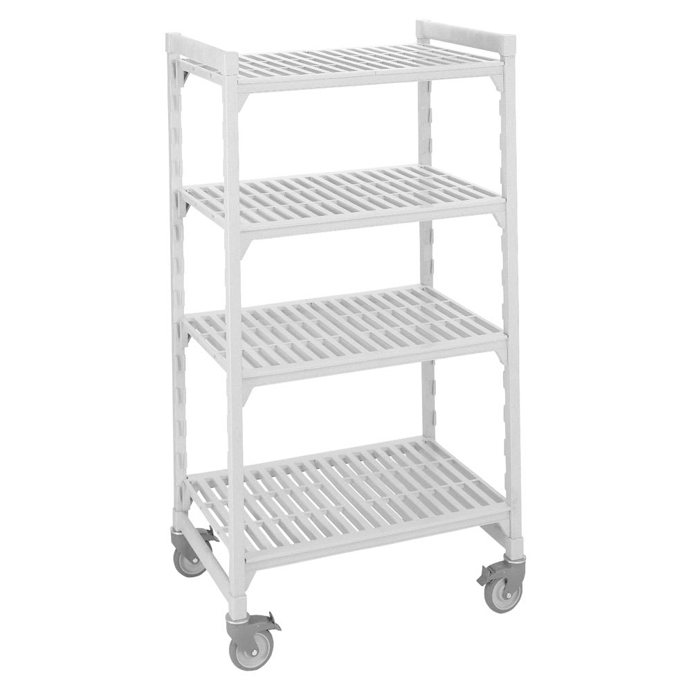 "Cambro CSUR44487480 Polymer Louvered Shelving Unit - 48""L x 24""W x 75""H"