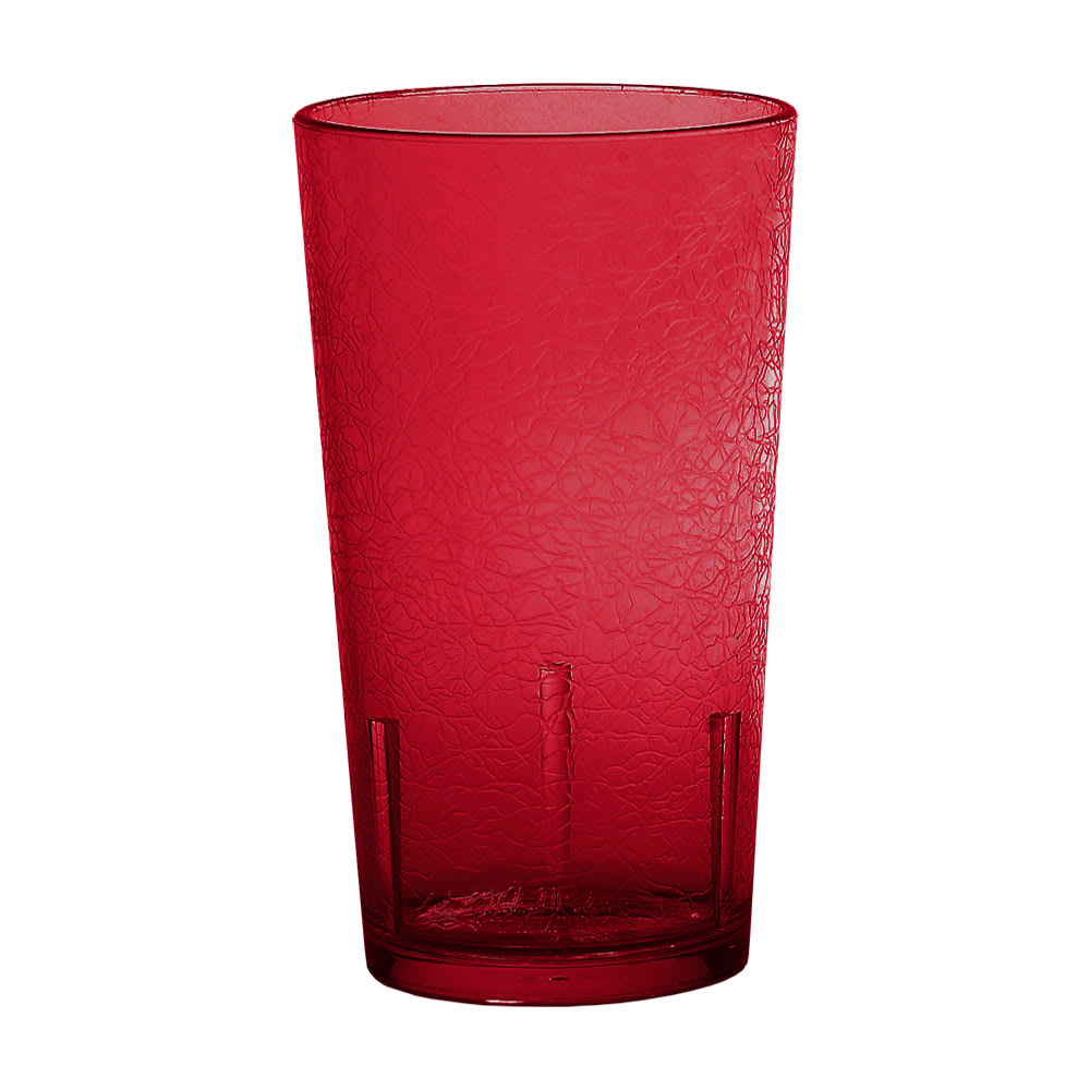 Cambro D12156 12 oz Del Mar Tumbler - Ruby Red