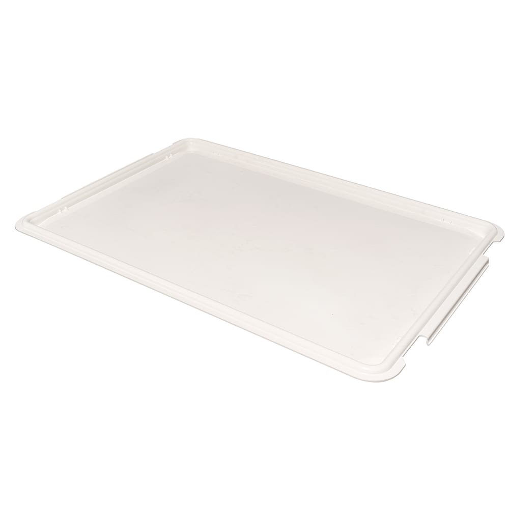 "Cambro DBC1826CW148 Pizza Dough Box Cover - 26x18"" White"
