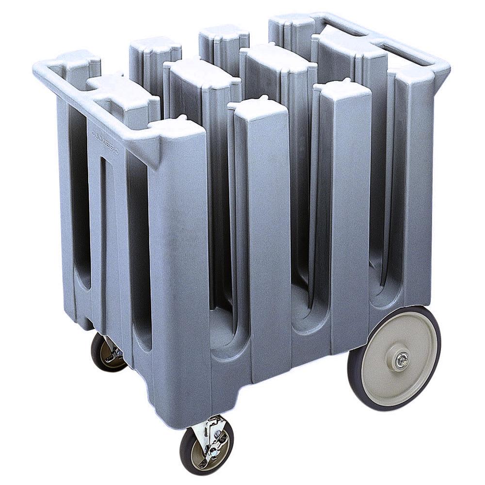 "Cambro DC575191 Dish Caddies Cart - 6-Columns, 5-3/4"" Max Dish Size, Granite Gray"