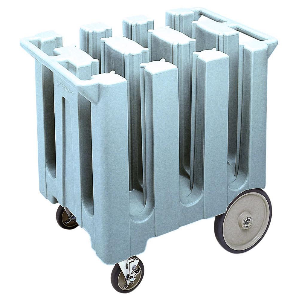 "Cambro DC575401 Dish Caddies Cart - 6 Columns, 5 3/4"" Max Dish Size, Slate Blue"