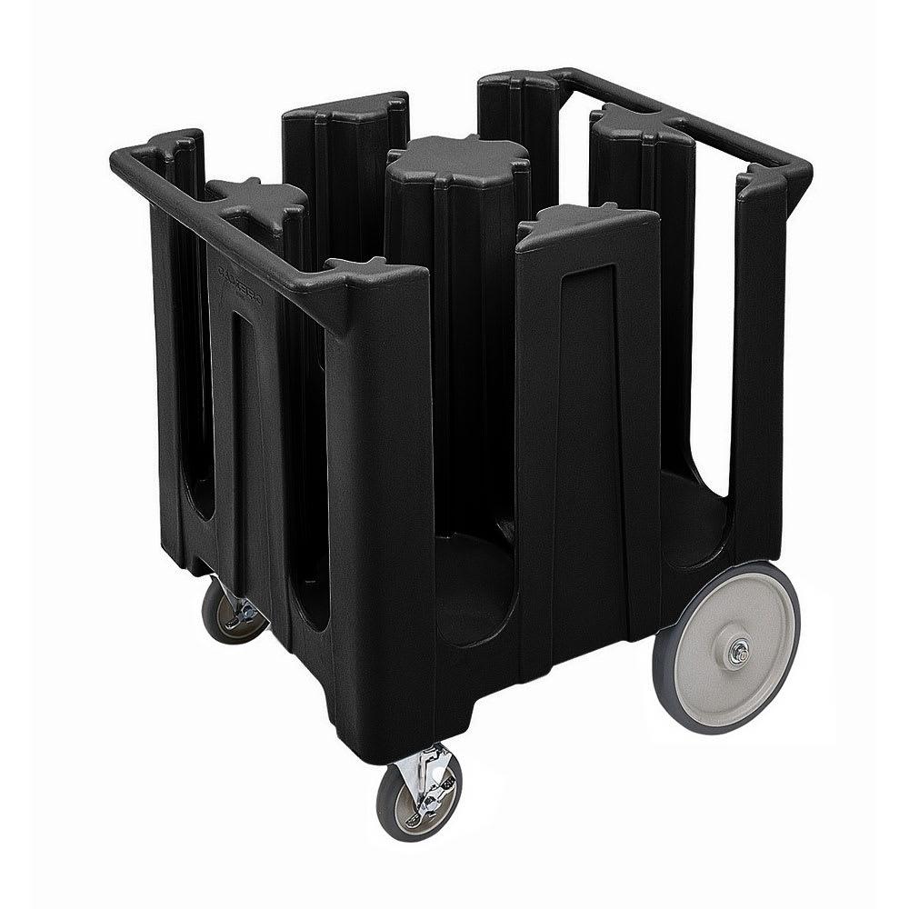 "Cambro DC825110 Dish Caddies Cart - 4 Columns, 8 1/4"" Max Dish Size, Black"