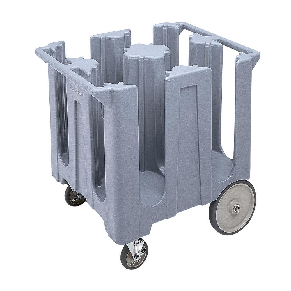 "Cambro DC825191 Dish Caddies Cart - 4 Columns, 8 1/4"" Max Dish Size, Granite Gray"