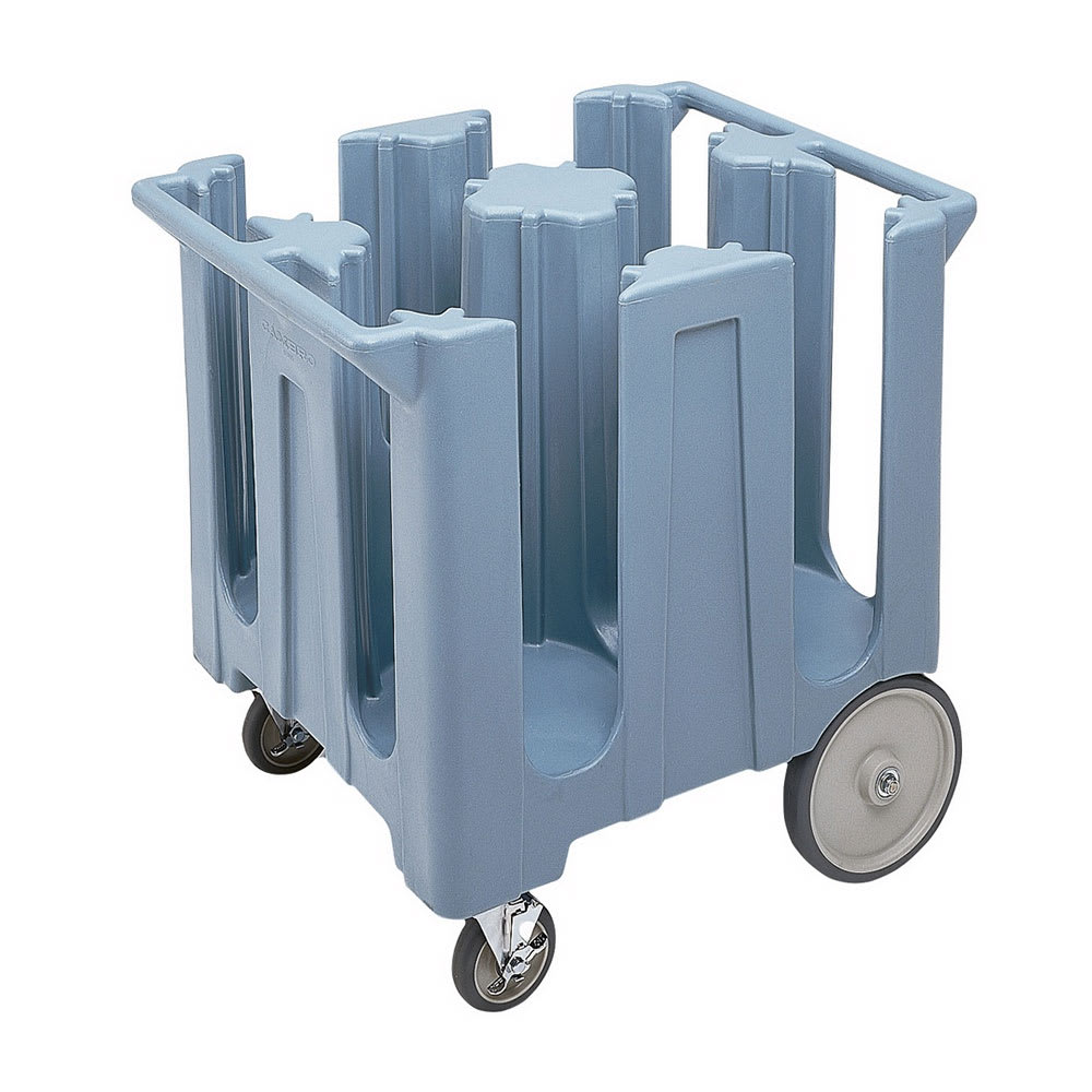"Cambro DC825401 Dish Caddies Cart - 4-Columns, 8-1/4"" Max Dish Size, Slate Blue"