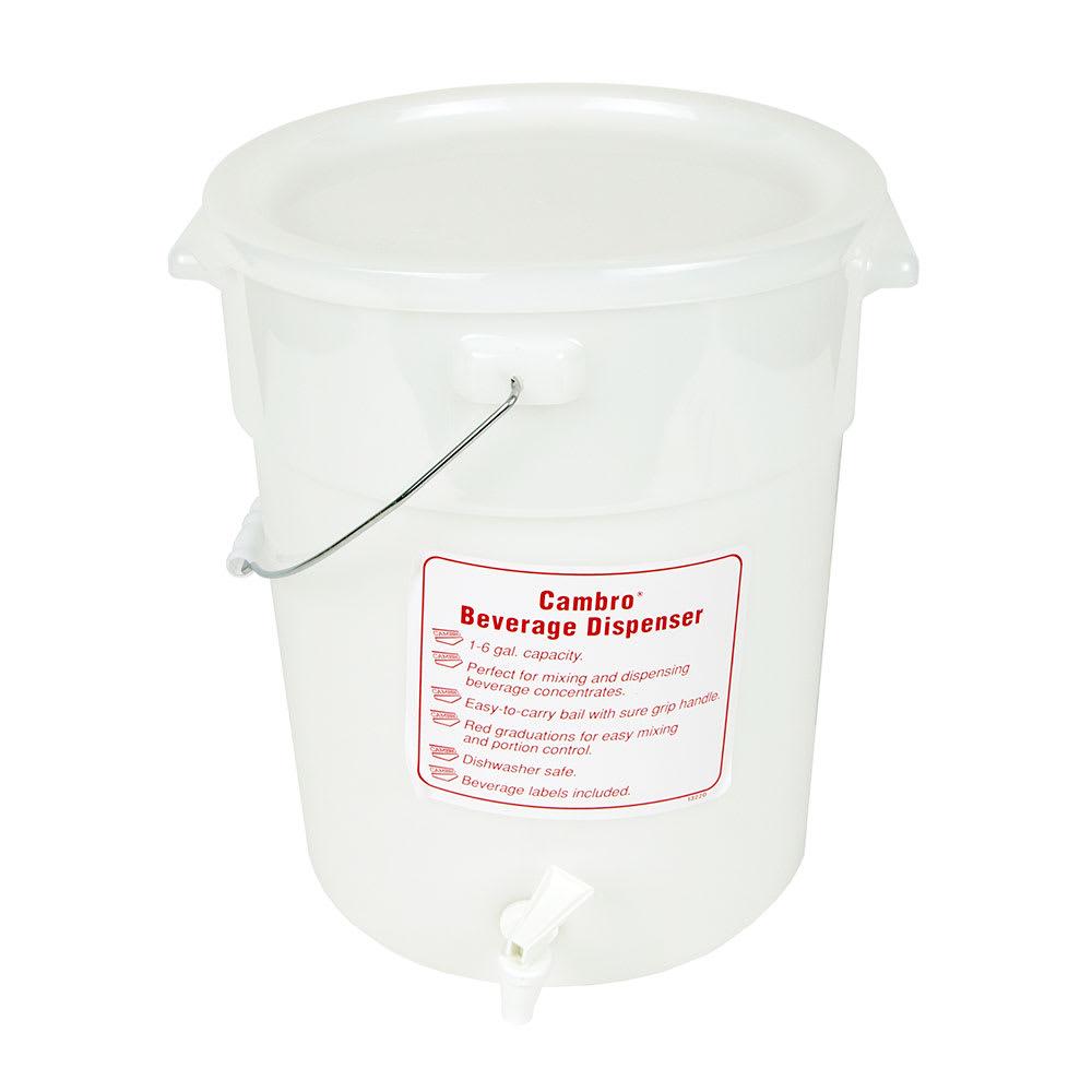 Cambro DSPR6148 6-gal Beverage Dispenser - White