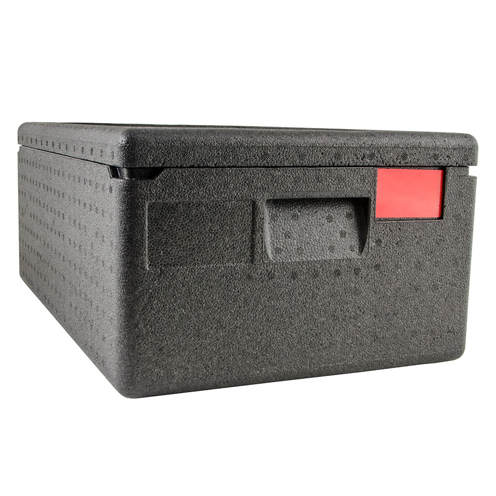 """Cambro EPP160 Cam GoBox™ Top-Loader Food Pan Carrier - 23.62""""L x 15.75""""W x 10.12""""H, Black"""