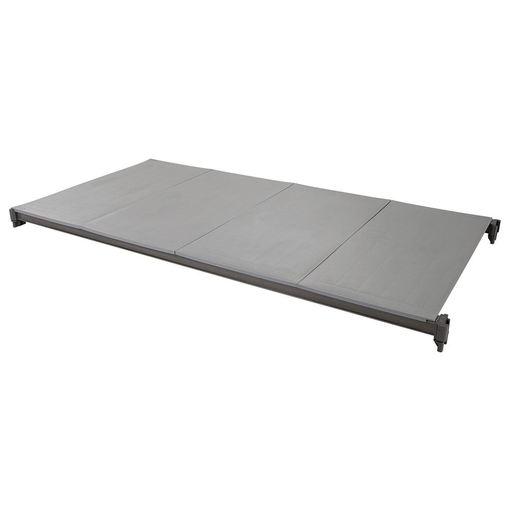 "Cambro ESK1848S1580 Camshelving® Elements Polymer Solid Shelf Plate Kit - 18"" x 48"", Brushed Graphite"