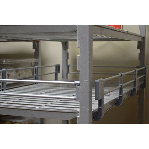 "Cambro ESR24603151 Camshelving® Elements 3/4 Shelf Rail Kit - 60""L x 24""W x 4.25""H, Soft Gray"