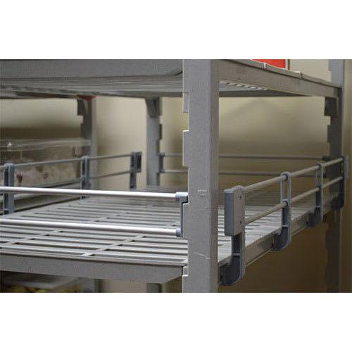 "Cambro ESR54S151 Camshelving® Elements Side Shelf Rail Kit - 54""L x 4.25""H, Soft Gray"