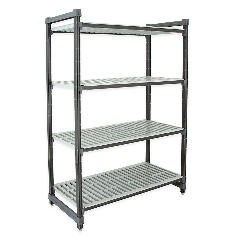 "Cambro ESU185472V4580 Polymer Louvered Shelving Unit - 54""L x 18""W x 72""H"