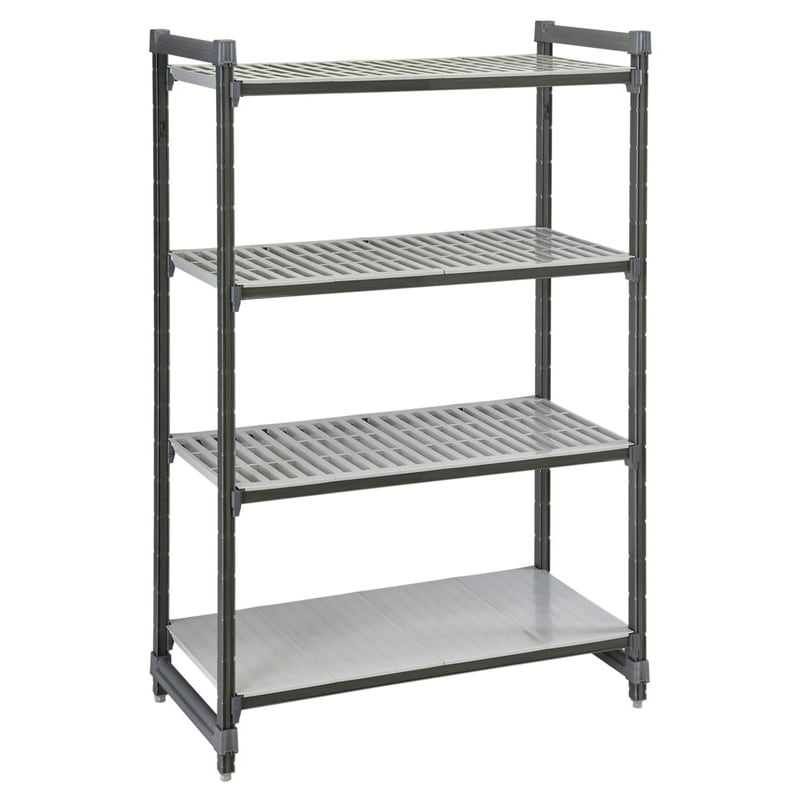"Cambro ESU214284VS4580 Polymer Louvered/Solid Shelving Unit - 42""L x 21""W x 84""H"