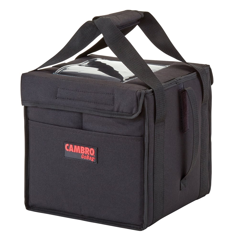 "Cambro GBD121515110 GoBag™ Food Delivery Bag - 12"" x 15"" x 15"", Nylon, Black"