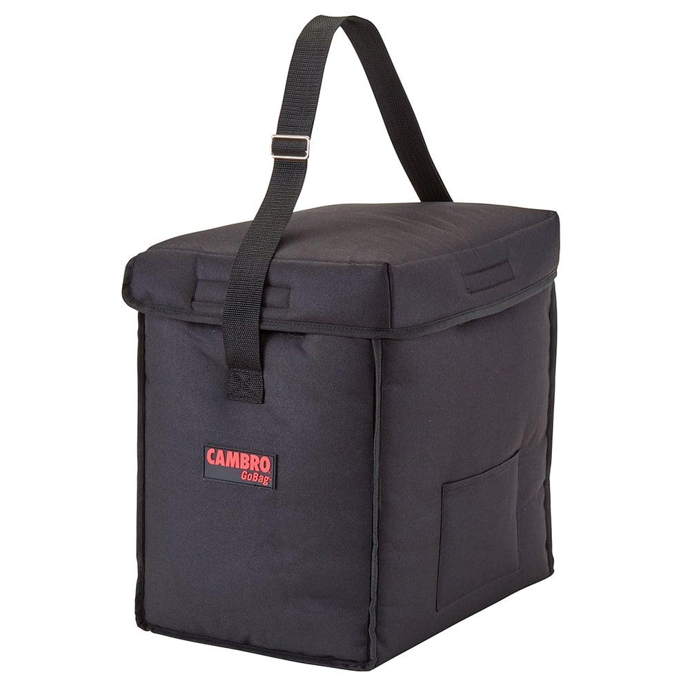 "Cambro GBD13913110 GoBag™ Food Delivery Bag - 13"" x 9"" x 13"", Nylon, Black"