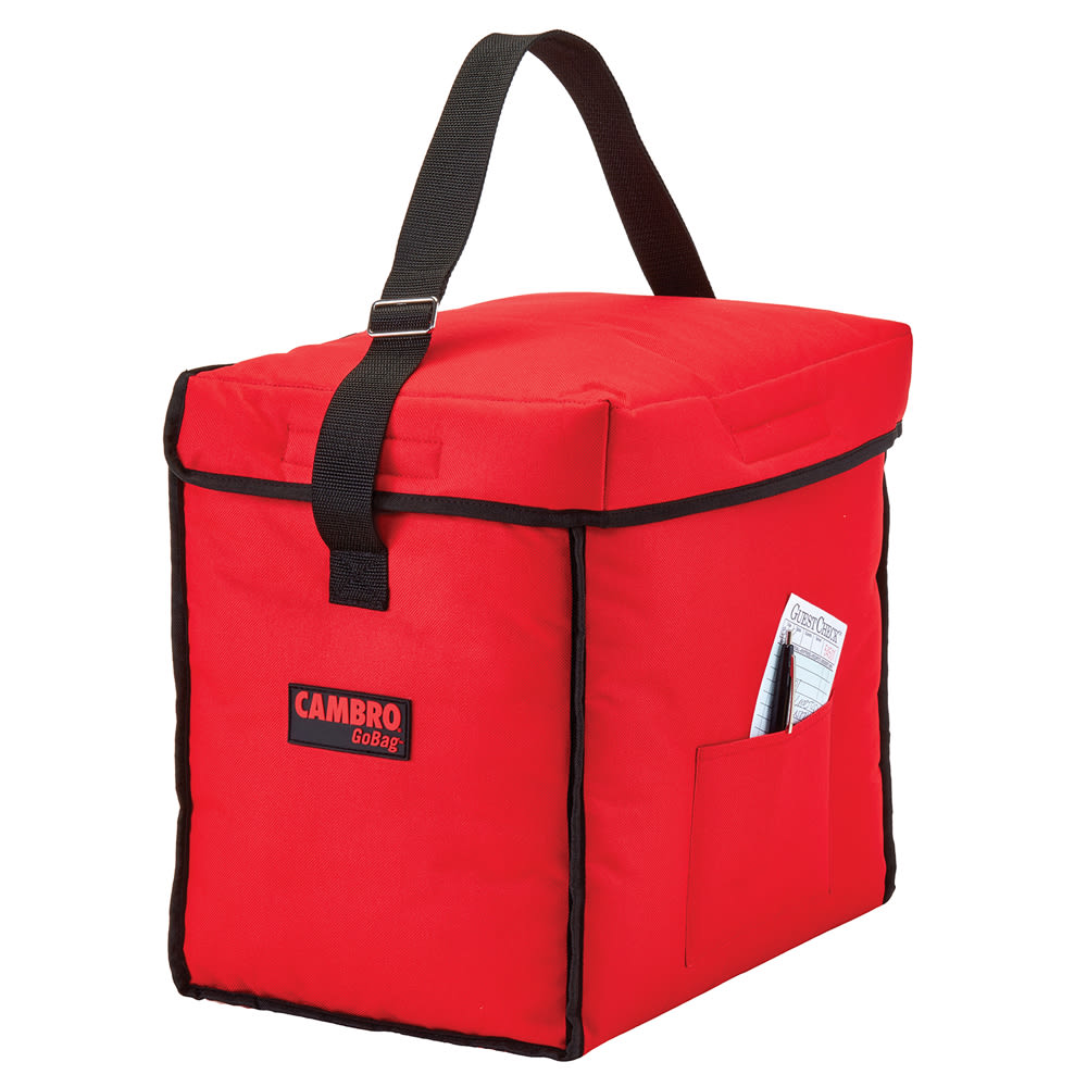"""Cambro GBD13913521 GoBag™ Food Delivery Bag - 13"""" x 9"""" x 13"""", Nylon, Red"""