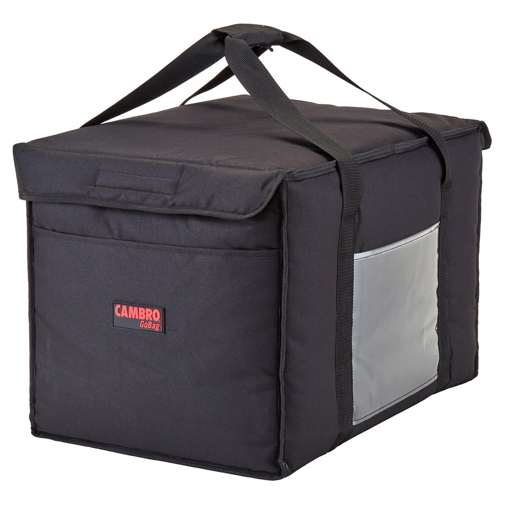 "Cambro GBD211414110 GoBag™ Food Delivery Bag - 21"" x 14"" x 14"", Nylon, Black"