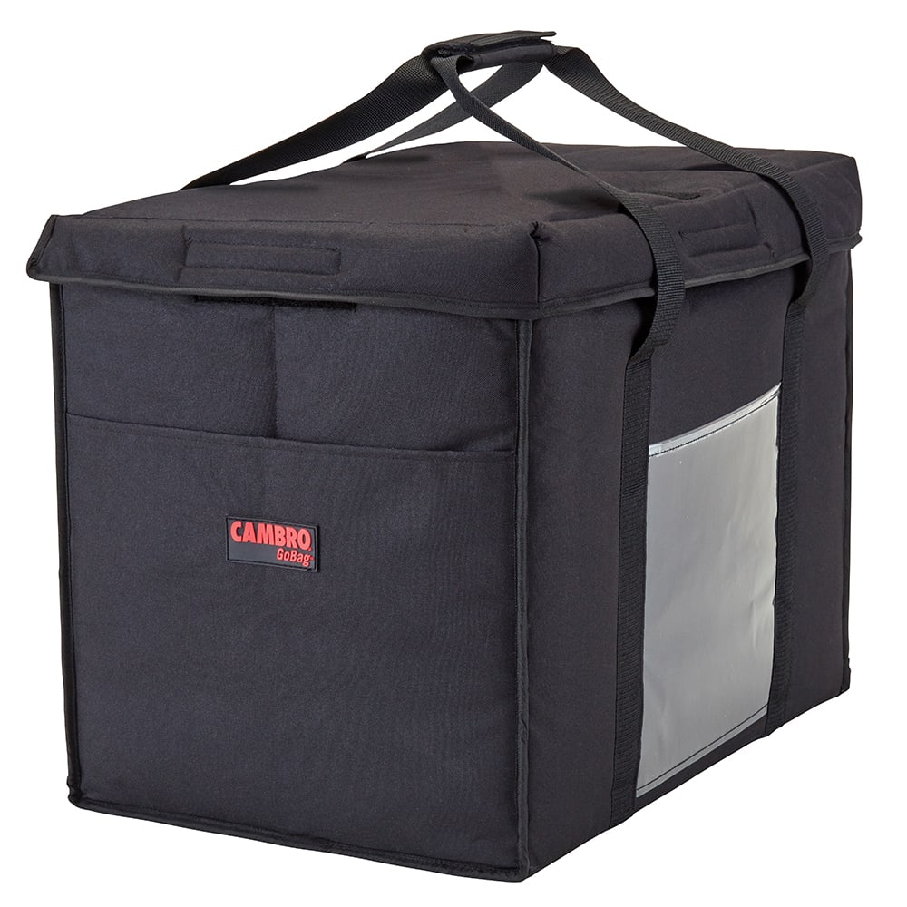 "Cambro GBD211417110 GoBag™ Food Delivery Bag - 21"" x 14"" x 17"", Nylon, Black"