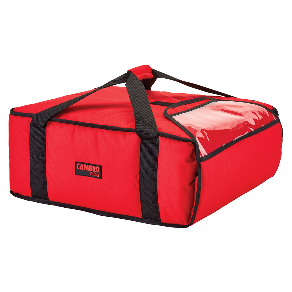 """Cambro GBP318521 GoBag™ Pizza Delivery Bag - 17.5"""" x 20"""" x 7.5"""", Nylon, Red"""